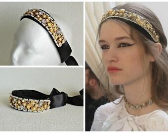 Tiara Chanel style - Golden temptation