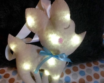 Nightlight-powered little Fawn