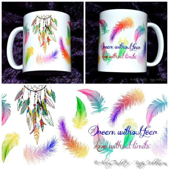 Dream Without Fear Love Without Limits: Dream Without Fear And Love Without Limits Printed Mug