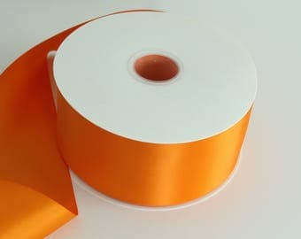 Tangerine Ribbon By The Yard / Double Faced Ribbon  / Ribbon by the yard / Bridal Ribbon / Tangerine