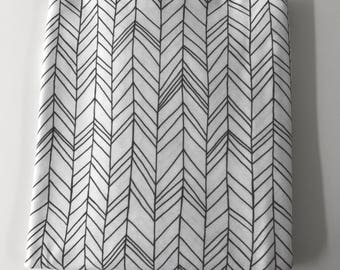 Gray and White Feather Super Soft Stretch Jersey Swaddle Receiving Infant Blanket