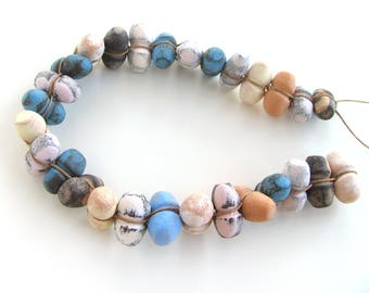 Unique Beads - jewelry beads, ceramic beads without holes, rustic beads, earthy, craft beads, artisan bead shop, pottery beads, terracotta