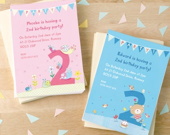 Personalised Second Birthday Party Invitations