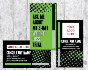 Herbalife Business Card, ItWorks Business Card - Digital Download