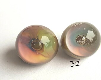 Glass eyes 10 mm, fish eyes, doll eyes, lampwork