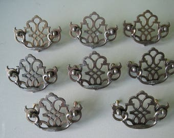 Polished Brass Chippendale Style Bail Pulls (Set of 8)