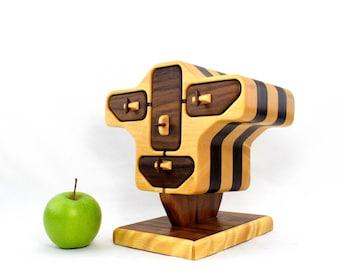 ROBOT HEAD jewelry box -  desk organizer - home decor - wood art - gift for her - original design by Simon Roy