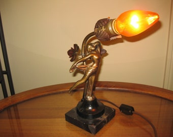 1930's Art Deco/Frank Art Style Figural Dancer Lamp