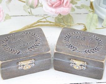 Ring Box, Personalised Wedding Ring Box, Ring Bearer Pillow,Rustic Wedding Ring Holder,Pillow Bearer Box