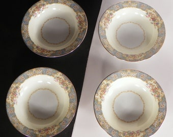 Noritake China BERENDA Berry Bowl (s) Lot of 4 Japan Floral 4017 Fruit Dessert Sauce
