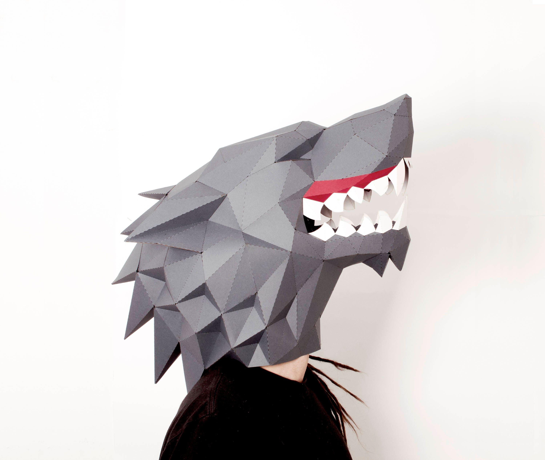 Hd Wallpapers Paper Wolf Mask Template Animated Wallpaperikikfo