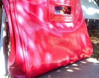 Patent Leather Magenta/Dark Rose Pink Purse