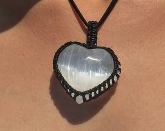 Agate Selenite Necklace, Agate Necklace, Chakra Necklace, Raw Stone Necklace, Organic necklace, Bohemian Boho necklace, Gemstone Necklace