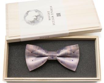 Denim Blue Bowtie -Graduation Gift, Toddler Bowtie , Wedding Ties, Groomsmen bow tie, Pre Tied and Adjustable Novioshk, H0081