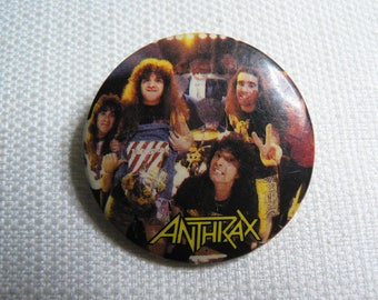 Vintage 80s (1987) Anthrax - Heavy / Thrash Metal - Pin / Button / Badge