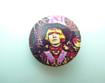 Vintage 80s Brian Jones from Their Satanic Majesties Request Album - The Rolling Stones -  Pin / Button / Badge