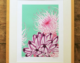 Anemone limited edition A3 print