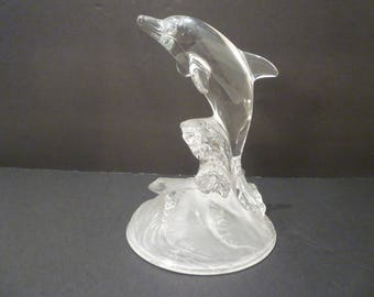 WEDDING CAKE TOPPER Crystal Dolphin Wedding Cake Topper Elegant Seashore