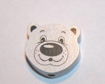 Wooden bead Teddy bear