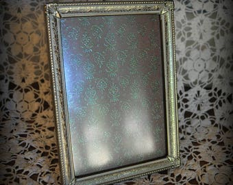 Vintage Gold Picture Frame Brushed with White, 5 x 7 in. Gold Frame