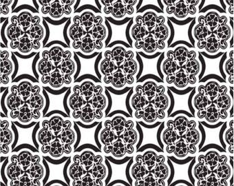 SALE  Rosecliff Manor Medallion White Fat Quarter Fabric by Emily Taylor for Riley Blake Designs