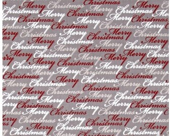 Christmas Dreams Words Merry Christmas Fabric by Quilting Treasures Sold By The Half Yard In One Continuous Cut