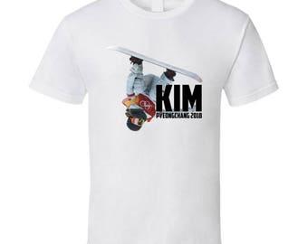 Chloe Kim Usa Snowboarding 2018 Olympics Athelete Fan T Shirt