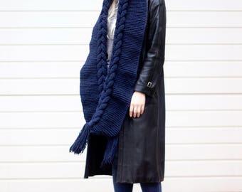 Hooded Scarf, Scarf, Hood, scarf hooded, Chunky scarf, Wool cowl, Volume Hood by LoveKnittings