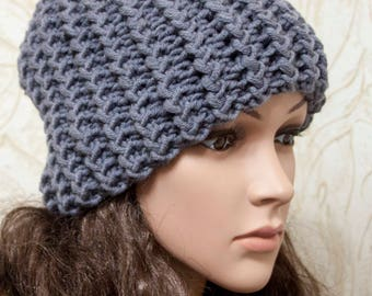Knit Hat Womens Hat Slouchy Beanie - Grey Hat Grey Beanie - Weekender Slouchy Hat Heather Grey  - Womens Accessories Winter Hat