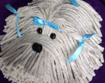 Mop Puppy Dog - Havanese - Shih Tzu - Maltese - Lhasa Apso - Bichon - White Dog - Schnauzer - Coton De Tulear - Tibetan Terrier - Dog Lover