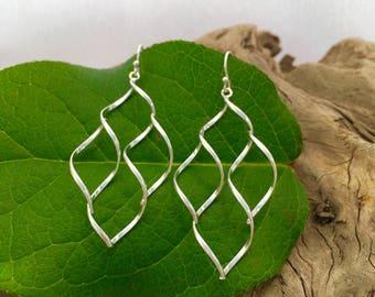 Sterling Silver Curvy Twist Earrings