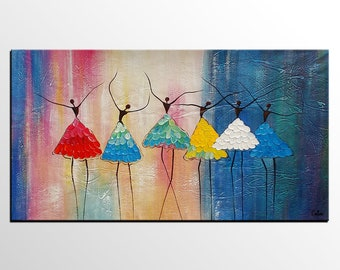 Abstract Art, Canvas Painting, Large Art, Abstract Painting, Ballet Dancer Painting, Canvas Wall Art, Art Painting, Canvas Art, Custom Art