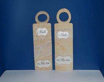 Lace romantic label bottle