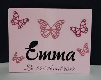 simple Butterfly name card