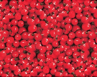 Tissu  pour Patchwork et Loisirs créatifs / Tomates cerises