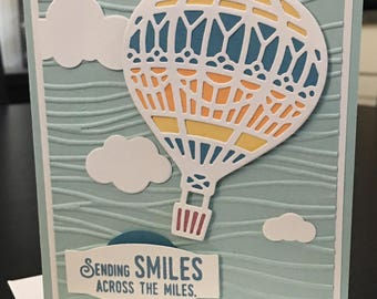 "Stampin' Up! Handmade Card, - ""Lift Me Up"" - Across The Miles, Thinking of You, Get Well"