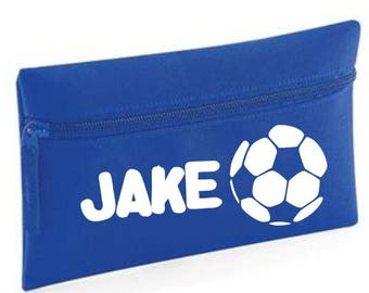 Personalised kids football pencil case your name back to school