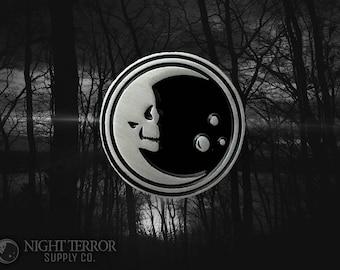 Night Terror Skelemoon Enamel Lapel Pin A Night Terror Supply Co. And VOIDEaD coaboration