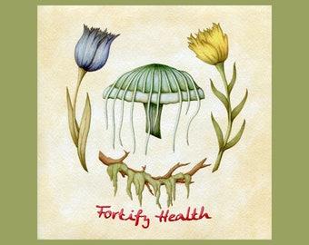 Fortify Health - Digital Download - Elder Scrolls Alchemy - Botanical Scientific Illustration - Skyrim
