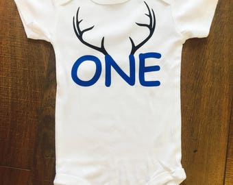 One With Antlers | Boys First Birthday