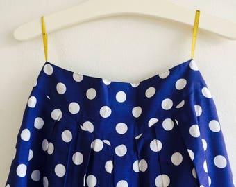 SALE - Vintage 80s swing skirt| vintage rok| size medium| polkadots| vintage stippen rok