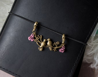 Birds & Roses   Planner Accessory   Keychain   Zipper Pull   Travelers Notebook   Purse Charm   Journal Charm