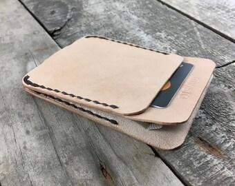 Natural Leather Wallet, Patina Wallet, Vegetable Tanned Leather, Kangaroo Leather, Mens Designer Wallets, Leather Card Holder, Slim Wallet