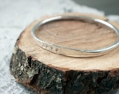 Personalized Silver Bangle