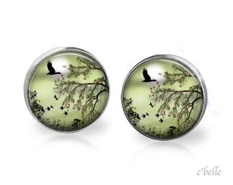 Stud Earrings mystical landscape 18