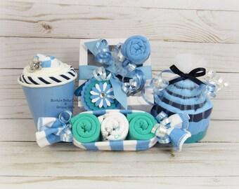Baby Boy Gift, Baby Shower Gift, Baby Boy, Hospital Gift, Onesie Cupcake
