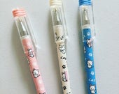 Kawaii Cat Gel Pen, Kitty Black Ink Pen, Cats Stationery, Stationery Supplies, Pastel Fine Point Pen, Crazy Cat Lady Gift