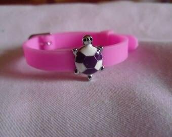 Pink silicone bracelet