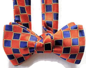 Silk Bow Tie for Men - Legacy of Cool - One-of-a-Kind, Handcrafted, Self-tie - Free Shipping