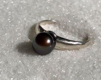 Copper akoya pearl ring